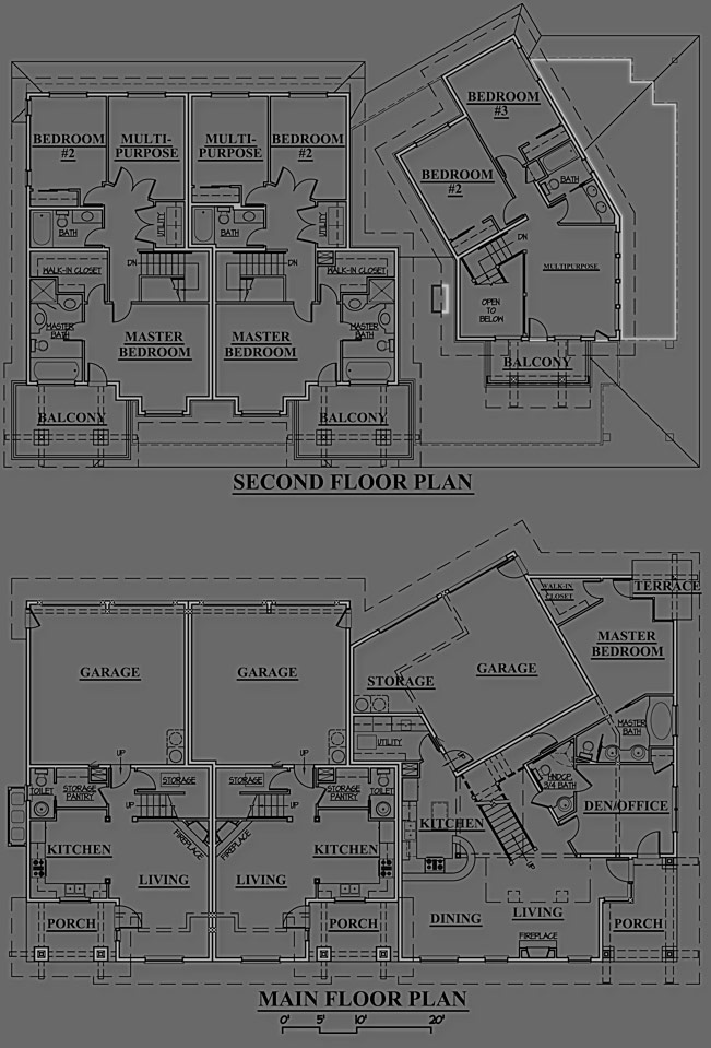 Duck Creek Condominiums - Building Floor Plan - Residential Architecture Project