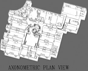 Morley Community School Axonometric Plan View - Industrial Architecture Design