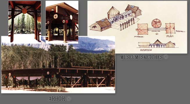 Stoney Nakoda Nation Campus Arbor and Museum Sketches
