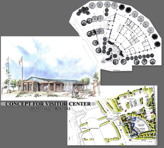 Concept for Visitor Center - Great Falls, Montana - Public Organization Architecture Project
