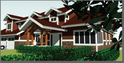 Bozeman Montana Residential Home Architect - 3D CAD Home Design