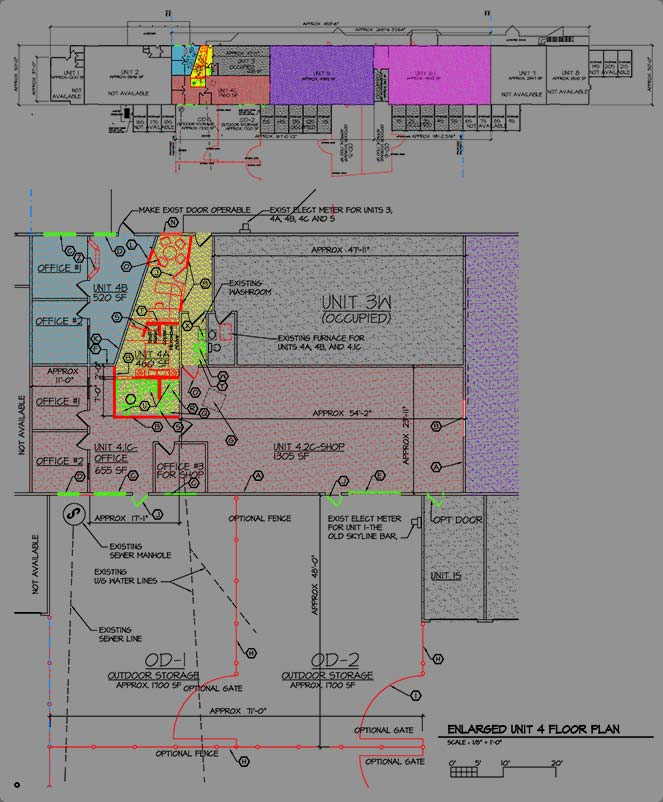 Swanson Architects - Great Falls Montana Warehouse Rental Property - Floor Plan